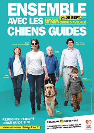 Affiche de la semaine des chiens guides d'aveugles 2014