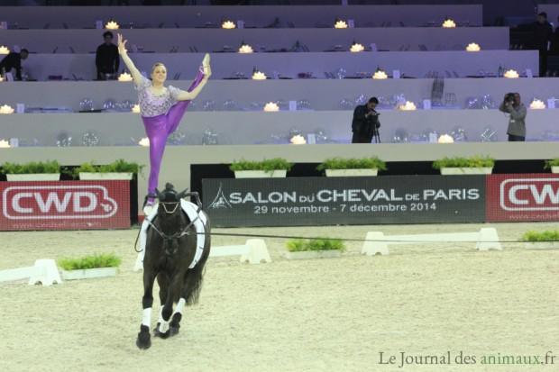 Photo : Joanne Eccles durant le Master International de Voltige