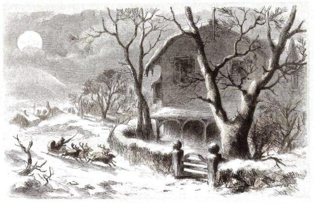 A Visit From Saint Nicholas illustré par F. O. C. Darley (1862) / Domaine public